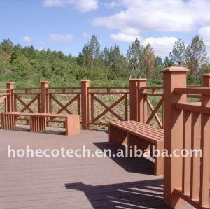 Clôture composée en plastique du bois de wpc de banc/balustrade/poteau de wpc de /ground de place publique de loisirs