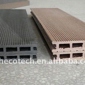 larga vida para el uso de madera de aspecto natural y se siente decking del wpc suelo