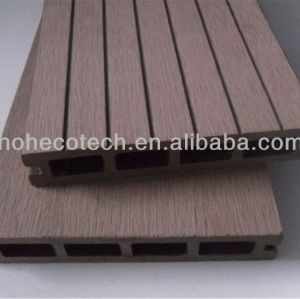Anhui Ecotech WPC hollow outdoor decking 146*25mm CE Rohus ASTM ISO 9001 approved