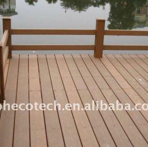 Alta qualità del materiale composito wpc legno decking composito di plastica/pavimentazione ( ce, rohs, astm, iso 9001, iso 14001, intertek )