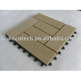 wood plastic composite decking/floor tile-easy installation
