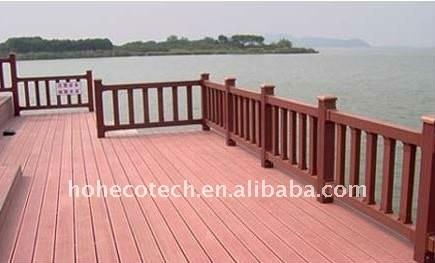 7 colori a scegliere di legno wpc plastico composito decking/pavimentazione ( ce, rohs, astm, iso 9001, iso 14001, intertek )