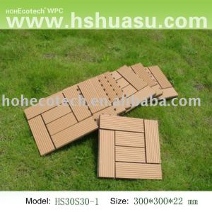 Eco - ambiente de plástico de madera decking compuesto/azulejo de piso/diy azulejo