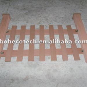 Natural wood feel WPC new fencing material /composite fence/yard edge fence