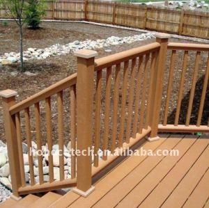 Soyez employé dans le decking composé en plastique en bois de décoration d'HÔTEL/decking de plancher (CE, ROHS, ASTM) WPC