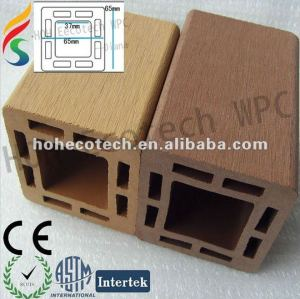 Jardin extérieur de wpc composé en plastique en bois clôturant le poteau/poteau de balustrade