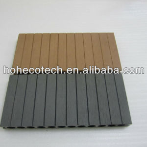 New ROUND hole good quality 250mm width wpc decking outdoor waterproof wood plastic composite decking/composite flooring