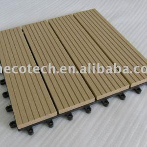 Compuesto plástico de madera cubierta de teja/azulejo de piso- de fácilinstalación