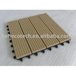木質プラスチック複合材デッキタイル/床タイル- 容易なインストール