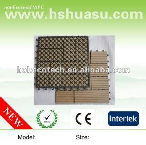 Venta caliente 300*300mm eco - ambiente de plástico de madera bricolaje suelo junta