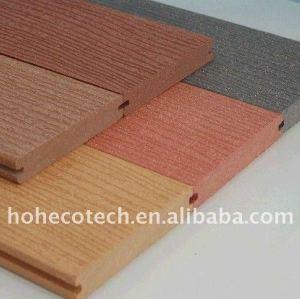 7 couleurs au decking du chosoe WPC couvre de tuiles le plancher composé en plastique en bois
