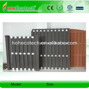 wpc outdoor fencing (ISO9001,ISO14001,ROHS,CE)