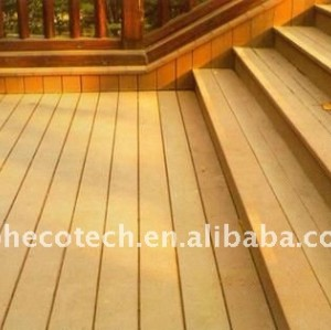 Long life to use WPC wood plastic composite decking/flooring (CE, ROHS, ASTM, ISO 9001, ISO 14001,Intertek)