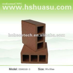 Venda quente ! Impermeável ( composto plástico de madeira ) hollow wpc corrimão da escada/ trilhos jardim/ guarda trilhos
