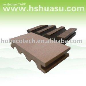 decking composé en plastique en bois durable de huasu nouveau (preuve de l'eau, résistance UV, résistance à se décomposer et fente)