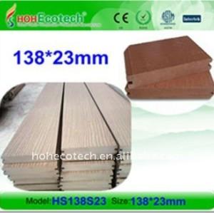 conseil plein de DECKING de panneau de plancher des composés WPC de Bois-Plastique de conseil de decking de wpc de 138x23mm