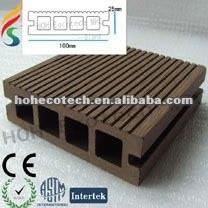 ( venta caliente ) hueco wpc decking compuesto de suelo del piso