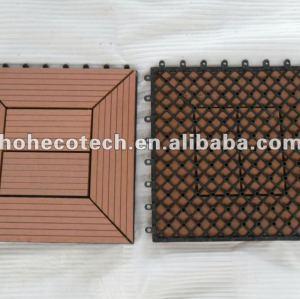 tuile composée en plastique en bois de plate-forme du plancher WPC DIY de tuile de salle de bains de wpc de 300x300mm