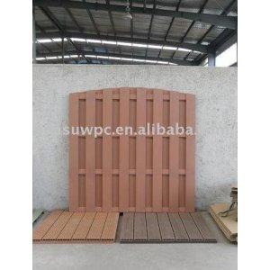 wood plastic composite garden fence/decking floor