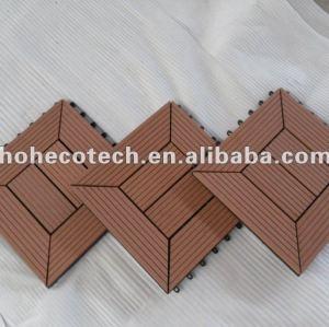 tuile composée en plastique en bois du plancher 300x300mm de wpc de tuile interne et externe de salle de bains
