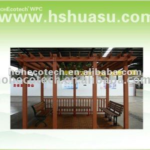 good design wood plastic composite summer house