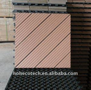 Moderner Wohnzimmerbodenbelag materieller wpc (hölzerne Plastikzusammensetzung) Bodenbelag/hölzerner Bodenbelag des Decking