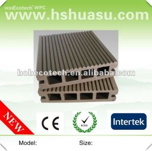 100% recycled green building water-proof hollow outdoor wpc decking (CE ROHS)
