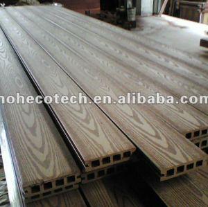 Decking composé en plastique en bois LÉGER de la CAVITÉ 100*25mm WPC/plate-forme en bois wpc de plancher (CE, ROHS, ASTM, OIN 9001, OIN 14001, Intertek)