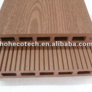 Grabación en relieve 145x22mm al aire libre de mimbre/madera decking compuesto plástico de madera decking/suelo junta cubierta de teja wpc madera
