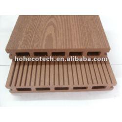 浮彫りになる145x22mm屋外のタケ/woodのDeckingの木製のプラスチック合成のdeckingか床板のwpcのデッキのタイルの材木