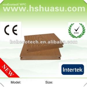 Huasu popular solid outdoor wpc deck (CE ROHS ISO9001)