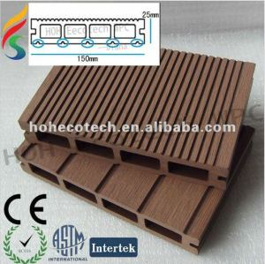Recycled outdoor wood plastic composite decking vinyl flooring