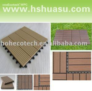 эко - дружественных деревянный пластичный составной настил/плитка пола