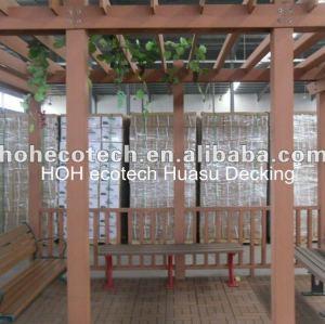 Impermeable al aire libre wpc pergola de madera y plástico compuesto pérgola ( pasado el ce, rohs, astm, iso9001, iso14001, intertek )