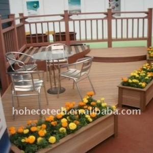 La decoración del jardín! Plástico de madera wpc decking compuesto/suelo ( ce, rohs, astm, iso9001, iso14001, intertek ) bricolaje decking