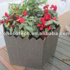 Décoration de jardin wpc pergola extérieure imperméable à l'eau boîte à fleurs en plastique en bois composite flower box