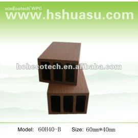 Plastic wood fencing WPC post 60*40mm