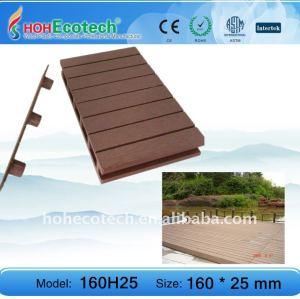 plancher extérieur de composé de plancher de decking du wpc 160H25