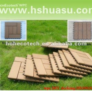 Huasu durable nuevo plástico de madera decking compuesto ( a prueba de agua, resistencia a rayos uv, resistencia a la pudrición y el crack )