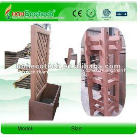 Different design waterproof wpc flower box wood plastic composite flower box wpc pergola