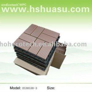 panneau diy composé en plastique en bois durable de huasu nouveau (preuve de l'eau, résistance UV, résistance à se décomposer et fente)