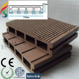 double wave surface wpc flooring
