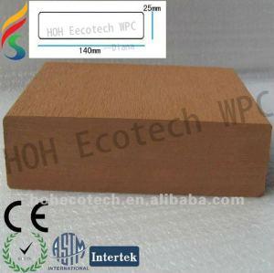 wpc composé en plastique en bois de decking