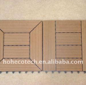 Compuesto de madera/bricolaje madera tableros decking del wpc compuesto plástico de madera decking/suelo