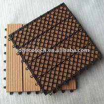 ecotech composite WPC interlocking decking tiles edges