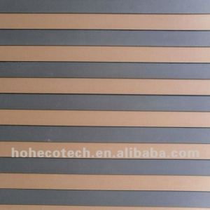 grano de madera wpc panel de pared
