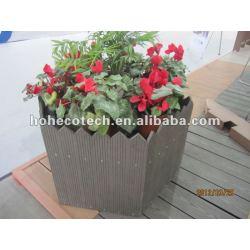 非ペンキ、耐候性がある、紫外線抵抗力があるwpcの花箱の木製のプラスチック合成の花箱のwpcのpergola