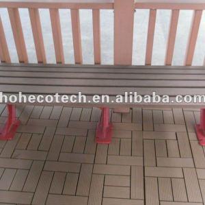 De madera compuesto plástico de madera wpc silla lesuire/de banco