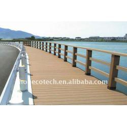 橋柵で囲む防水decking WPCの木製のプラスチック合成のdeckingか床張りのdecking