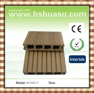 Decking composé en bois imperméable à l'eau respectueux de l'environnement extérieur (CE ROHS ASTM ISO9001)